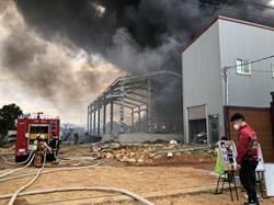 影》驚! 瓦斯罐回收場大火 急滅火發現堆滿塑膠