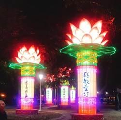 高雄燈會驚見「擎天一柱」網狂酸這款蓮花燈可擺到中元