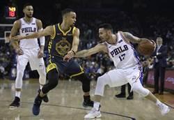 NBA》五星戰隊輸了!勇士遭七六人中斷11連勝