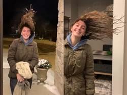 少女濕髮出門瞬結冰!秒懂「極地渦漩」威力