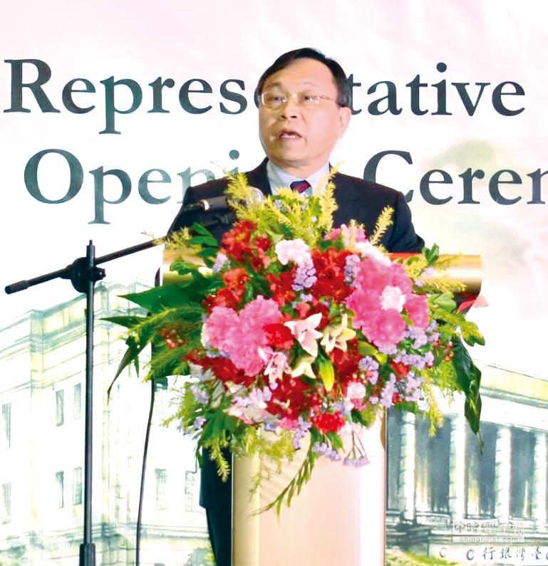 臺灣銀行董事長呂桔誠於馬尼拉辦事處開幕典禮致詞。圖/臺銀提供