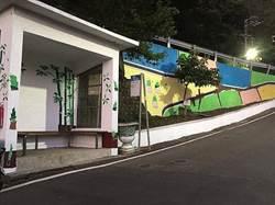 淡水產茶社區有「藝」思!彩繪牆訴先人故事秀繽紛
