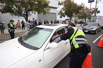 影》酒駕零容忍 台中市警方鐵腕全日攔檢取締