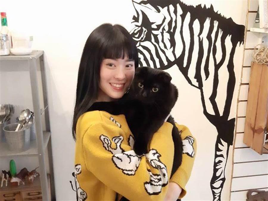 女星邱偲琹善心買下生病的貓,結果差點花20萬幫牠治病。(圖/記者李家穎攝)