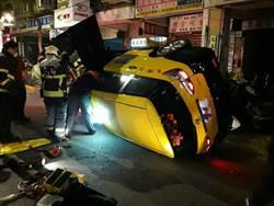 影》北市和平西路計程車撞路樹翻車 兩乘客母女送醫 駕駛昏迷