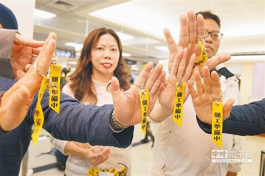 華航機師醞釀在春節罷工。(杜宜諳攝)