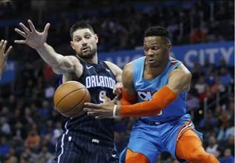 NBA》韋少連七場大三元 平個人紀錄