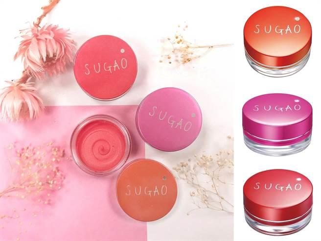 SUGAO空氣感唇頰舒芙蕾 全3色 6.5g/NT380  眼影、腮紅和唇彩都能靠它一顆三用。(圖/品牌提供)