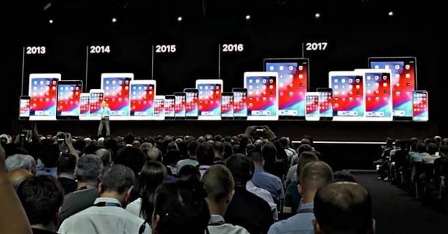 蘋果在 WWDC 2018 當中公布 iOS 12 可支援的設備。(圖/黃慧雯攝)