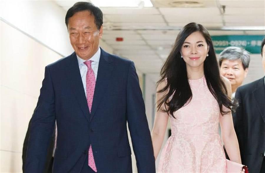 郭台銘愛妻曾馨瑩鬆口回應第四胎喜訊,表示「讓大家失望了」。(中時資料照片)