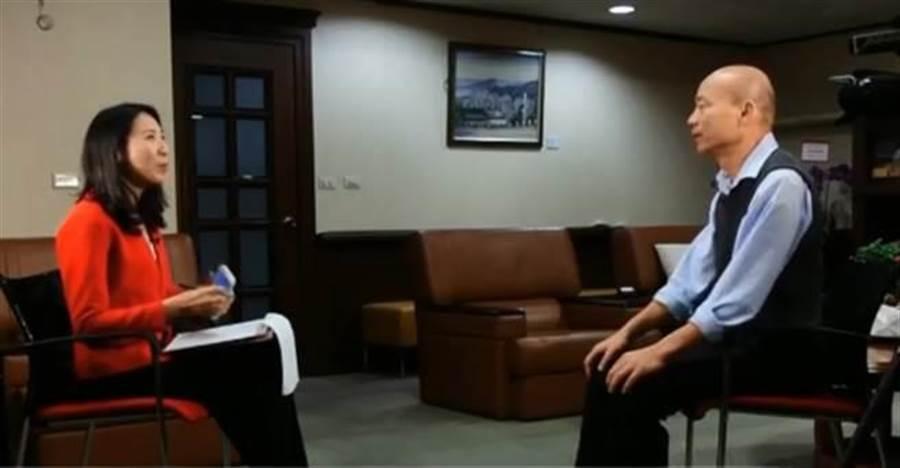 ▲高雄市長韓國瑜接受美國之音專訪。(圖/取自中天新聞CH52)