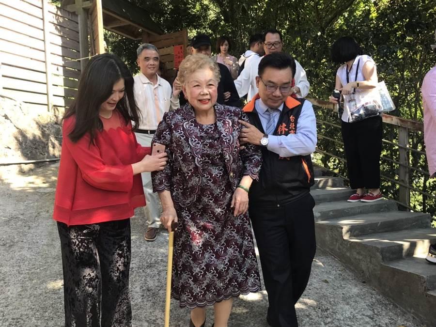 台北市長柯文哲媽媽何瑞英。(圖/本報資料照)