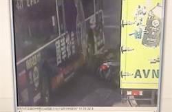 影》機車擦撞倒地 男子險遭公車輾過