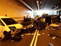 影》國道3大溪段4車連環撞1人死亡
