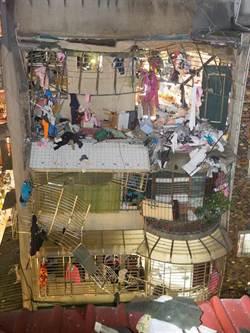 影》板橋公寓瓦斯氣爆5傷 屋內有如炸彈轟過