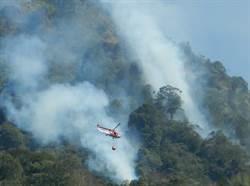 日月潭後山森林火警 空勤直升機加入滅火