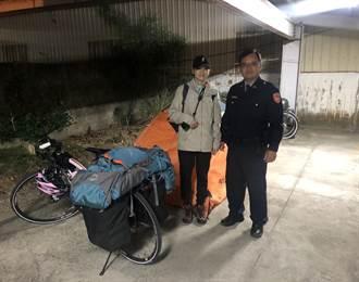 陸女單車環島問紮營地 派出所直接讓她搭帳篷