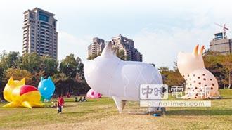 台中福滿迎豬 閃耀文心公園