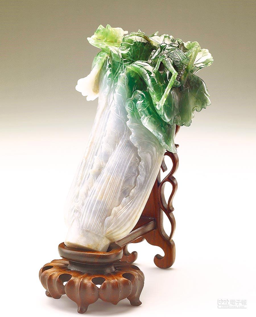 國寶「翠玉白菜」,進駐后里馬場園區故宮花蝶館。(陳世宗翻攝)