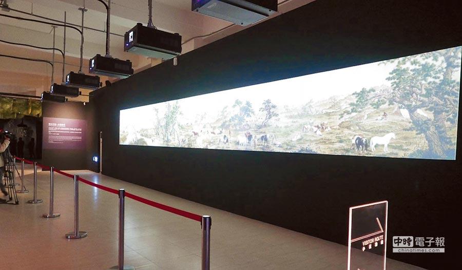 「圖成百駿-古畫動漫」,展現古代長卷獨特意境,感受百匹駿馬馳騁草原之美。