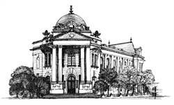 台灣歷史建築畫展 2/15起「台中市役所」展出