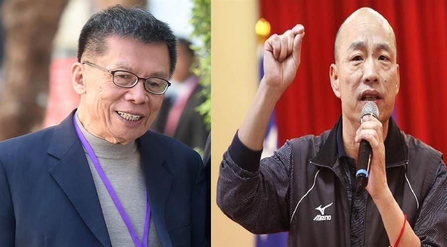 前民進黨立委 沈富雄(左)、高雄市長韓國瑜。(圖/合成圖,本報資料照)