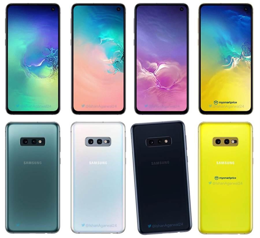 網傳Galaxy S10E機身配色。(圖/翻攝Slashgear)