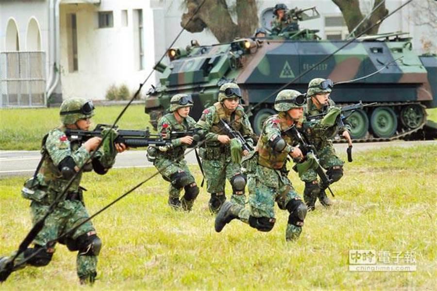 國軍應援戰力演練。圖/軍聞社提供