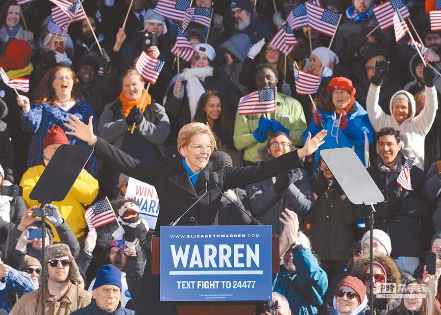 美國麻州聯邦參議員華倫9日宣布2020總統大選競選列車正式起跑,但「印第安血統」問題可能成為對手攻訐她的把柄。(法新社)