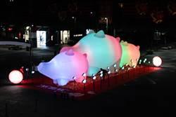 新光三越豬年燈展  每晚點亮台北信義區