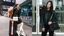 昆凌秀美腿征戰紐約時裝周!Krystal潤娥先拚機場時尚