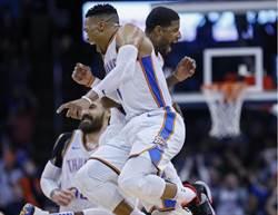NBA》韋少與保羅喬治同隊同場大三元 史上第8次