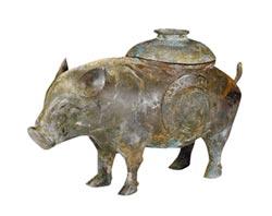 青銅豬卣國寶 萌度不輸佩佩豬