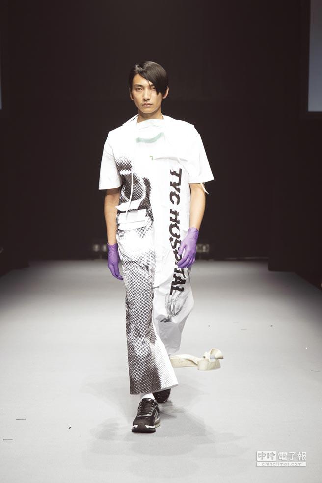 TSUNG YU CHAN新銳男裝設計師品牌,由設計師詹宗佑於2016年回台所創立的同名品牌,秉持著對高級時裝、街頭風格與現代藝術的熱愛,創造現代混搭風格,呈現具設計感且實穿的男裝。圖/紡拓會提供
