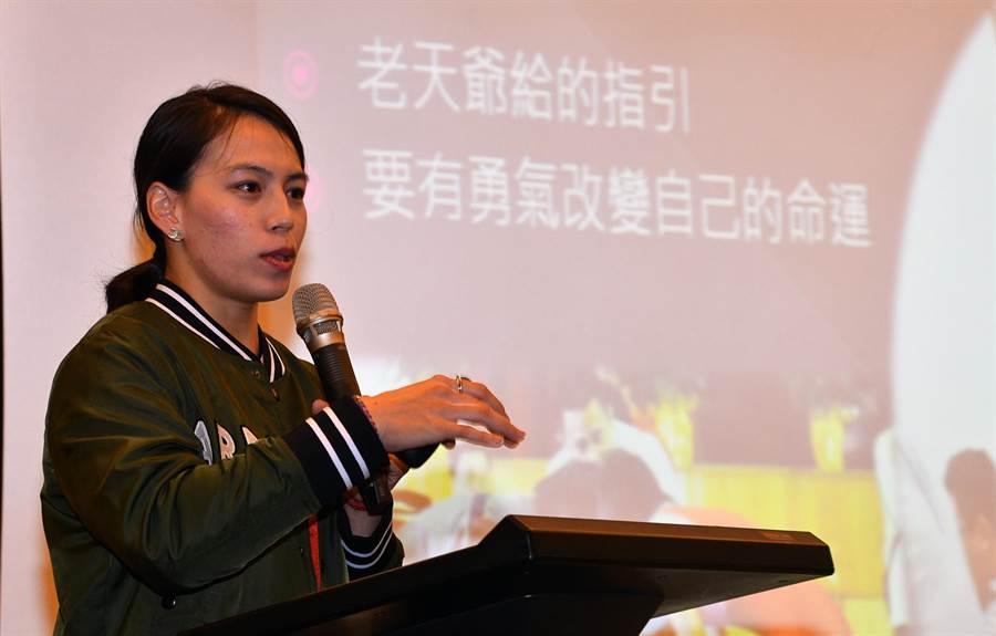 郭婞淳說,2020東奧是她舉重生涯最後一役。(莊哲權攝)