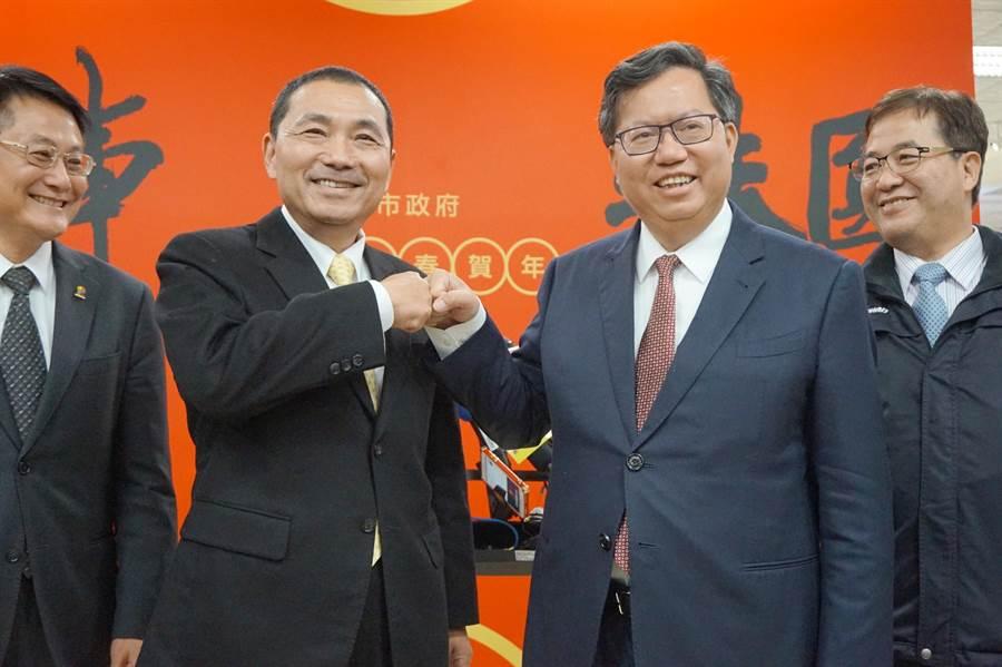 桃園市長鄭文燦強調,他是挺機師工會,協商要有同理心。(甘嘉雯攝)