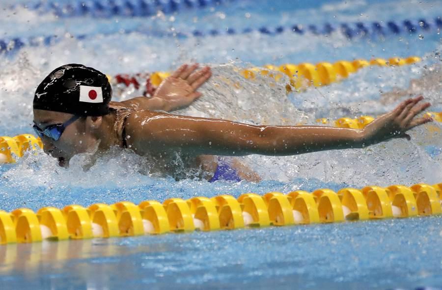 池江璃花子在2018雅加達亞運表現搶眼,獲得大會最佳女運動員。(資料照/美聯社)