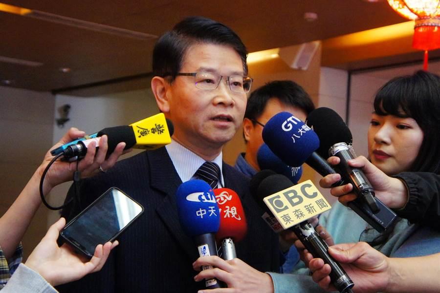法務部檢察司長王俊力表示,不知0.75酒測值標準哪裡來的。(張孝義攝)