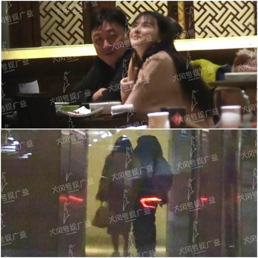 王晶和雲千千被拍到一起用餐,隨後挽手回公寓過夜。(圖/翻攝自鳳凰娛樂)