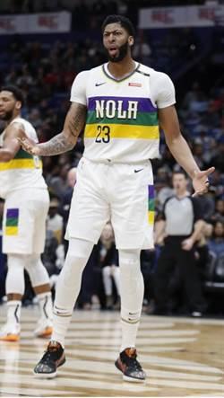 NBA》一眉哥場上失魂9投1中 鵜鶘主場狂輸30分