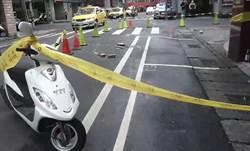 驚!基隆大樓下「磁磚雨」 轎車遭殃