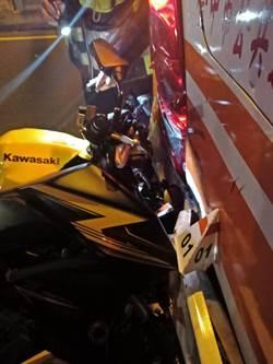 中市台灣大道重機追撞客運 騎士重傷送醫