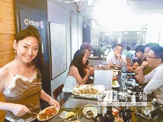 王俐人當老闆 身兼廚娘洗碗工