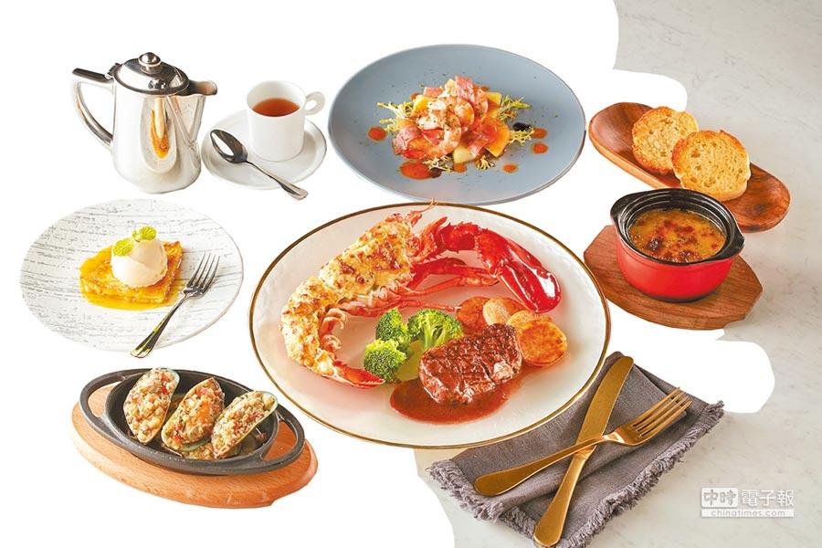 統一時代台北店朵頤牛排海陸雙拼套餐,推薦價1080元。(統一時代台北店提供)