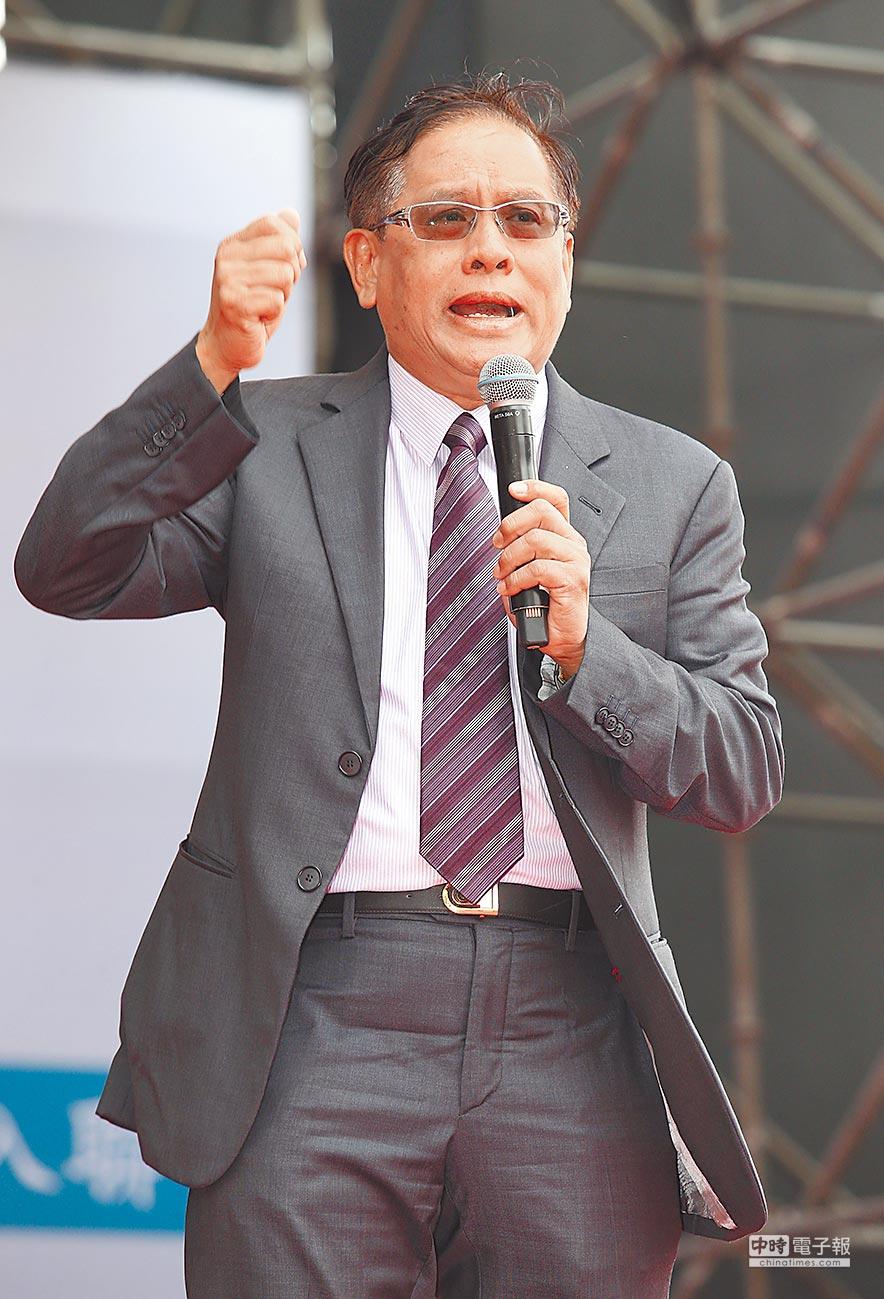 2018年10月20日,喜樂島聯盟總召集人郭倍宏呼籲讓世界知道台獨建國決心。(本報系資料照片)