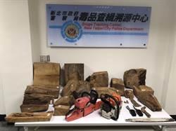 新北檢、警抓盜伐扣珍貴國有林木 市值逾百萬元