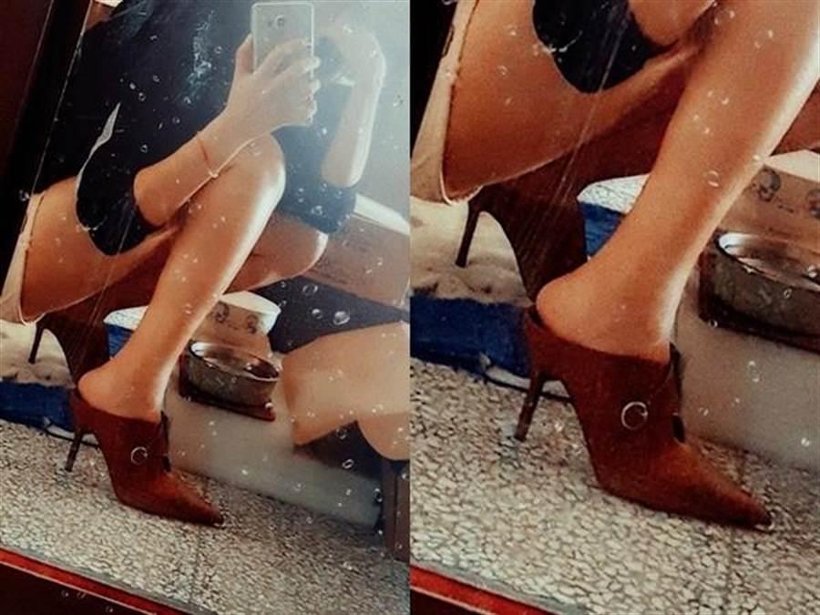 原PO抱怨新高跟鞋被女主管嗆醜,po要網友評斷,網卻歪樓盯看那雙美腿。(圖/翻攝爆怨公社)