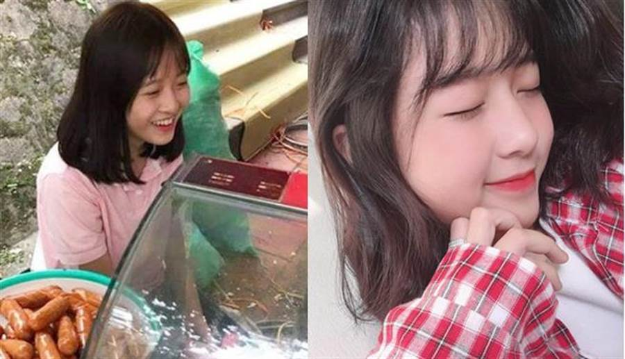 香腸妹擺攤被偷拍爆紅 天使甜笑融化一票網友(圖翻攝自/soha.vn)