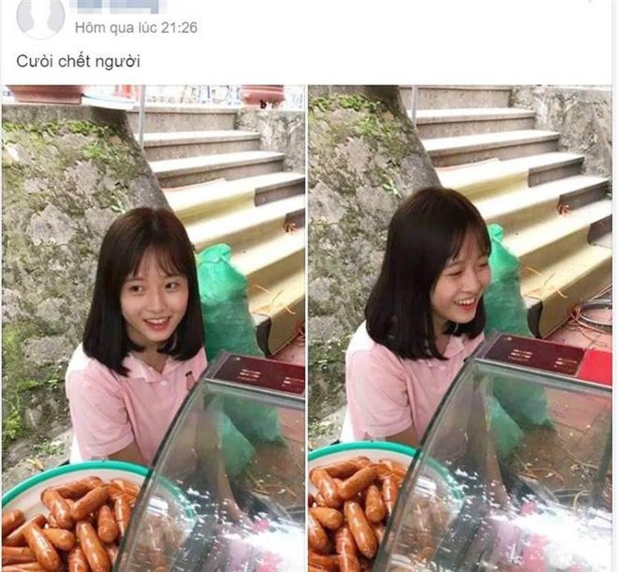 由於香腸妹外型清純,而被客人偷拍上傳而爆紅(圖翻攝自/soha.vn)