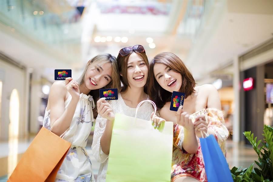 HAPPYGO年後推兌點2比1助攻百貨,大搶消費者花紅包、年終獎金的商機。(HAPPYGO提供)